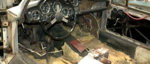 Aston Martin disassemble interior